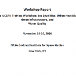 Cover of NASA Rio UCCRN Training Workshop: Sea Level Rise, Urban Heat Island and Green Infrastructure, and Water Quality