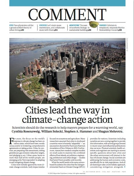 Cover of Cities lead the way in climate change action